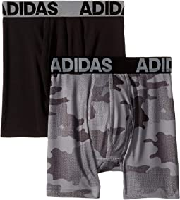 b6751bedd3 Adidas kids climalite 2 pack boxer brief big kids black real red ...