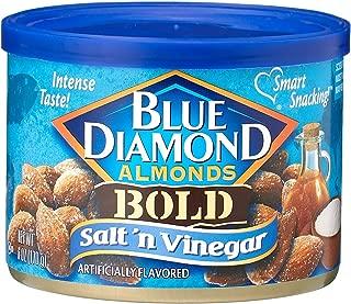 Blue Diamond Salt & Vinegar Almonds, Bold Tins, 6 oz, 3 Pack
