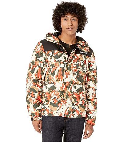Timberland Outdoor Archive Camo Puffer Jacket (Spicy Orange Trek Camo/Black) Men