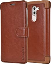 Huawei Honor 6X Case - Mulbess PU Leather Flip Case Cover for Huawei Honor 6X Wallet Coffee Brown
