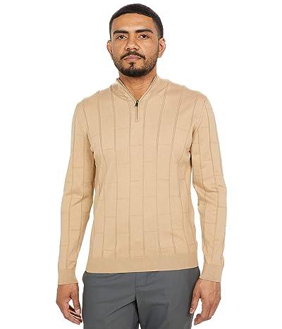 BUGATCHI Daxton Long Sleeve Sweater 1/4 Zip Mock Neck