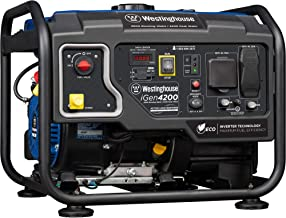 Westinghouse iGen4200 Hybrid Open Frame Inverter Generator - 3500 Rated Watts & 4200 Peak Watts - Gas Powered - RV Ready Outlet