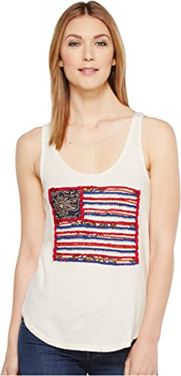 Lucky Brand - Flag Patch Tank Top