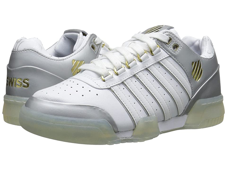K-Swiss Gstaadtm (White/Silver/Gold) Women