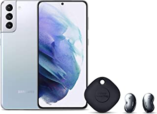 Samsung Galaxy S21+ Dual SIM, 128GB 8GB RAM 5G, Phantom Silver + Galaxy Buds Live, Mystic Black + Smart Tag, Black + 1 Yea...