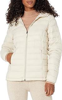 Amazon Essentials Women's Lightweight Water-Resistant Packable Hooded Puffer Jacket