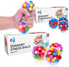 Stress-Relief Sensory Stress Balls by Nyft Toys   Squishy Stress Toys   Squeezing Rubber Ball for Autism, ADHD, ADD, Sensory Needs, Bad Habits   The Calming Fidget Toy for Kids and Adults   3 Pack