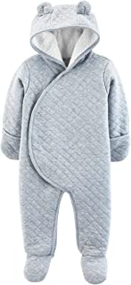 Carter's Baby Girls' Newborn-9M Hooded Quilted Pram Sleep & Play