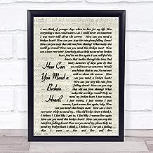 123 BiiUYOO How Can You Mend A Broken Heart Al Green Script Quote Song Lyric Print 18