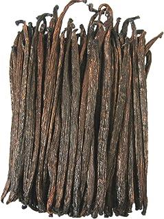 タヒチ種 バニラビーンズ Vanilla Beans 100g (約25-30本) バニラ ビーンズ お菓子 ハーブ 製菓 香料 スパイス バニラの実 (100)