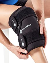 ActiveWrap Knee Ice Pack Wrap for Knee Pain ACL Injuries with Reusable Hot Cold Packs - Small/Medium