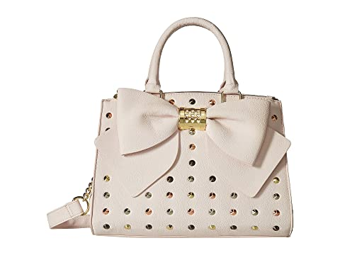 Betsey Johnson Triple Entry Studded Satchel, BLUSH