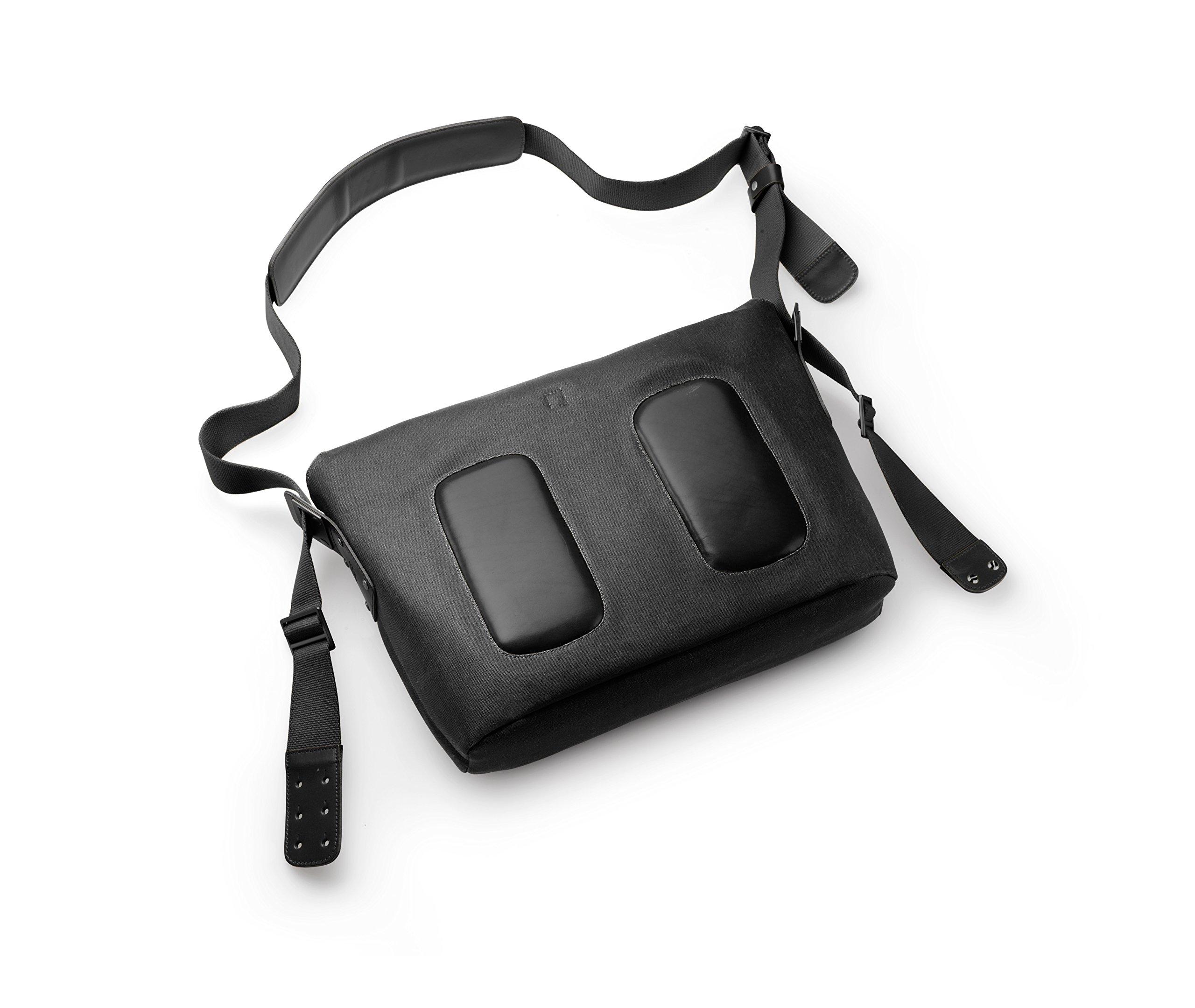 Brooks England Ltd. Messenger Bag Rahmentaschen, Black, 12 x 39 x 28 cm