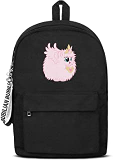 Cute Pink Princess Fluffle Puff Unicorns Daypack Fashion Durable Canvas Rucksack Travel Hiking for Men Women and Kids