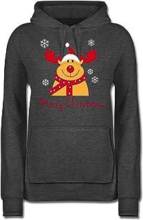 Weihnachten Pullover Damen Teenager M/ädchen Weihnachtspulli 2020 /Überlebende Familie Klopapier Quarant/äne Rudolph Rentier Weihnachtspullover Christmas Sweatshirt Xmas Pulli Shirt