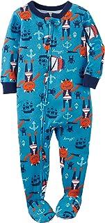 Little Boys' One Piece Printed Cotton Pajamas