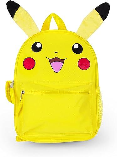FAB Starpoint Jungen Pikachu 30,5cm Rucksack mit Verl erung Ohren, gelb, One Größe