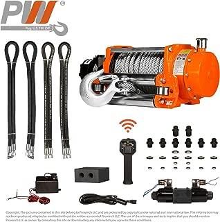 Hydraulic Winch w/Roller 20,000 lbs. 24V Wired Control