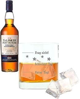 Whiskey 2er Set, Talisker Port Ruighe, Single Malt, Schottland, Whisky, Scotch, Alkohol, Alkoholgetränk, Flasche, 45.8%, 700 ml, 681145, Geschenk zum Vatertag, mit graviertem Glas