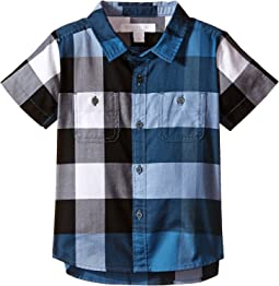 Burberry Kids - Short Sleeve Check Shirt with Two-Pocket (Infant/Toddler)
