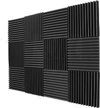 JVSISM 12 Pack- Acoustic Panels Foam Engineering Sponge Wedges Soundproofing Panels 1inch x 12 x 12inch