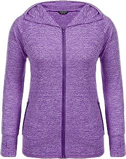 Women's Plus Size Hoodie Sweatshirts Lightweight Full-Zip Running Sports Hooded Jackets Outdoor with Pockets