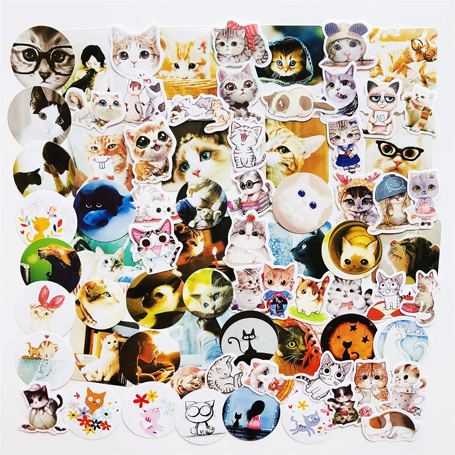 70 pcs Cut Cat Stickers Notebok Photo Album Water Cups Kindle Snowboard Laptop Luggage Car Motorcycle Bicycle Fridge DIY Home Decor