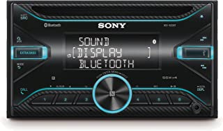 Sony WX920BT Receptor de CD con tecnología Bluetooth (Control por voz Android y Siri Eyes Free USB EXTRA BASS 4 x 55 W doble DIN) Negro