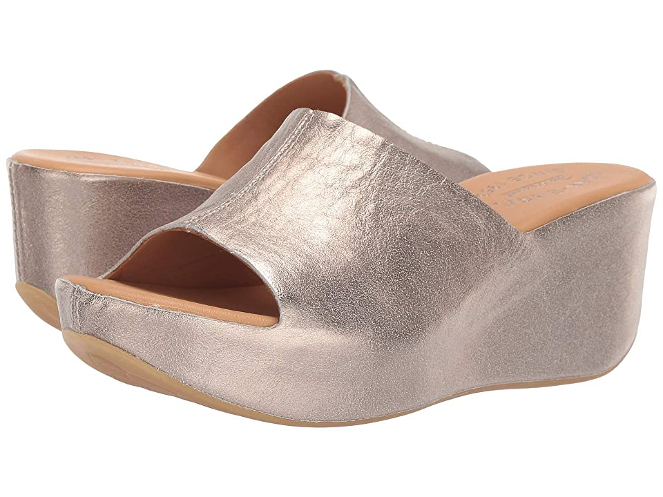 70s Outfits – 70s Style Ideas for Women Kork-Ease Greer Gold Metallic Womens Wedge Shoes $164.95 AT vintagedancer.com