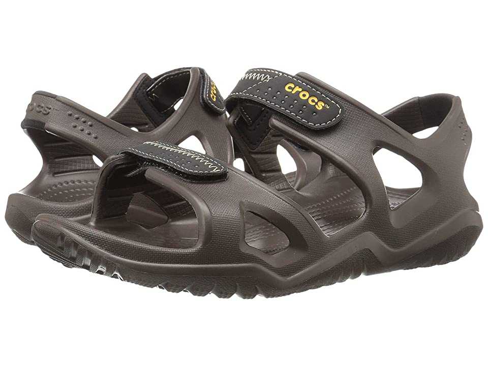 Crocs Swiftwater River Sandal (Espresso/Black) Men's Sandals, Brown