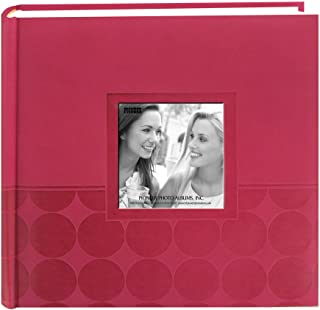 "Pioneer Embossed 2-Up Photo Album 4""X6"" 200 Pockets-Pink Circles"