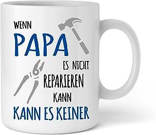Shirtinator Shirtinator Papa Geschenkideen Tasse mit Spruch I Papa reparieren I Vater Geburtstag Geschenk-e Vatertag Vatertagsgeschenke