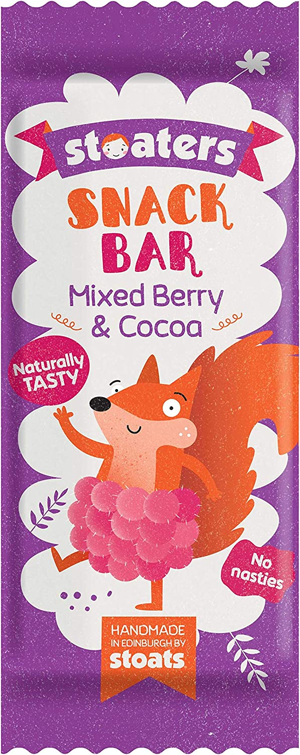Stoaters Mixed Berry & Cocoa Snack Bars 20g Pack of 20, SPB ...
