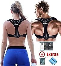 GoVitalis Premium 2018 Posture Corrector for Men & Women: German Brand Quality, Comfortable Robust Effective - Bonus Training Manual, Resistance Band, Carrier Bag