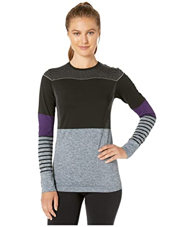 Craft Fuseknit Comfort Blocked Round Neck Long Sleeve (Black/Logan) Women