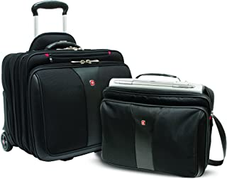 Wenger Patriot Rolling 2 Piece Business Set, Black (Black) - 600662