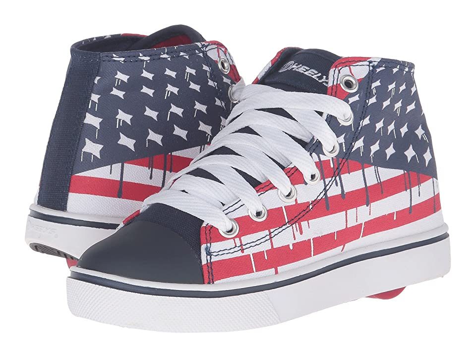 Heelys Hustle American Flag (Little Kid/Big Kid/Adult) (Blue/White/Red) Boys Shoes