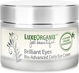 Organic Eye Cream Anti Aging: Soothes and Hydrates. Under Eye Treatment Relieves Dark Circles and Puffiness. Natural Retinol and Moisturizers Firm Skin, Soften Wrinkles and Minimize Eye Bags. (USA)