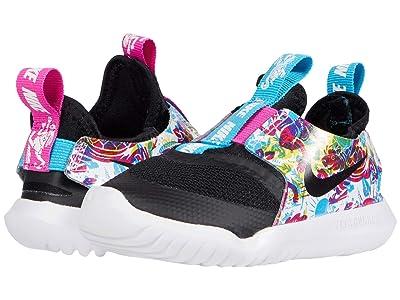 Nike Kids Flex Runner Fable (Infant/Toddler) (Black/White/Fire Pink/Blue Fury) Girl