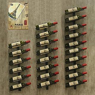 XWZJY Porte-Bouteille de vin Affichage Simple Support de Rangement Mural Support à vin pour Organisation de Cave de Bar de...