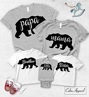 cd6561f8ad8 Papa Bear Mama Bear Baby Bear Shirt, Christmas Matching Family Shirts,  Custom Family Matching