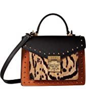 MCM - Patricia Leopard Combo Satchel Small