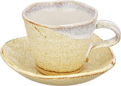 美濃焼 珈琲碗皿 梨地 日本製