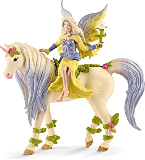SCHLEICH bayala Fairy Sera with Blossom Unicorn Imaginative Toy for Kids Ages 5-12