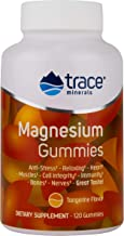 Trace Minerals Magnesium Gummy Tangerine Flavor, 120 count, Anti-Stress, Relaxing, Heart Health, Great Tasting!