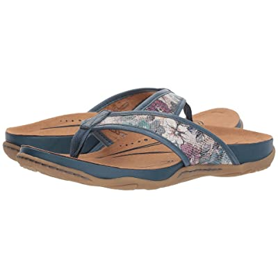Earth Maya (Blue Floral Printed Suede) Women