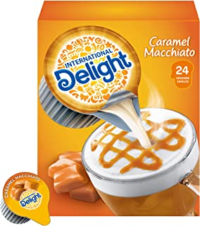 International Delight Coffee Creamer Singles, Caramel Macchiato, 24 Count (Pack of 6)