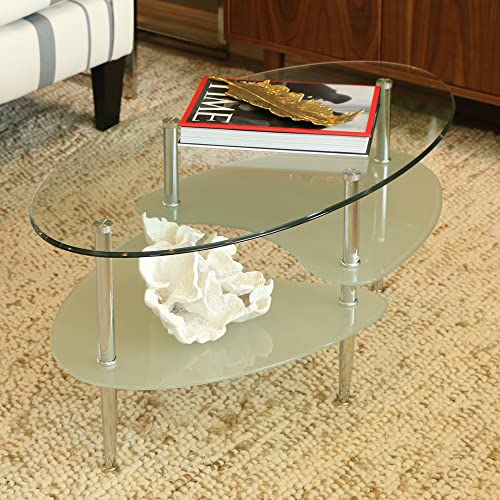 Small Oval Glass Top Coffee Table.Small Oval Coffee Tables Amazon Com