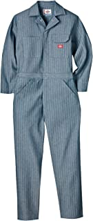 Men's Long Sleeve Fisher Stripe Cotton Coverall Big and Tall