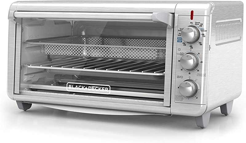 BLACK DECKER TO3265XSSD Extra Wide Crisp N Bake Air Fry Toaster Oven Fits 9 X 13 Pan Silver